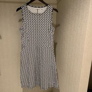 New York and Company black & white triangle dress